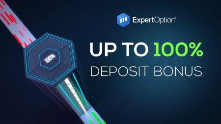 Khuyến mãi chào mừng ExpertOption - Tiền thưởng 100% khi gửi tiền lên đến $ 500